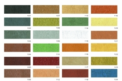 Carta color morteros Feyma. Esta carta de colores es orientativa, los colores pueden sufrir alguna alteración en el acabado final